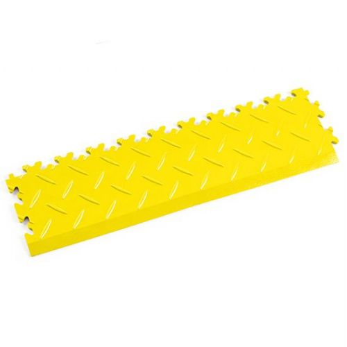 Yellow Diamond Plate - Interlocking Tile Edging